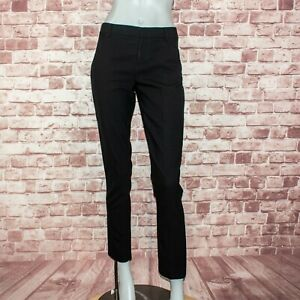 HELMUT LANG Women's Slim Ankle Dress Pants Black wool Size 0 Made in USA