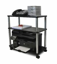 Mobile Laptop Printer Cart Rolling Computer Stand Portable Office Table
