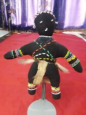 "South African Ceremonial Beaded Cloth Doll 7.5"" Ca 1950"