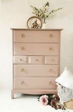 MADE TO ORDER - Dusky pink Stag Minstrel Tallboy Chest of Drawers - boho / chic