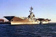 New 5x7 Navy Photo: USS LEXINGTON (AVT 16) Carrier Docked at Naval Air Station
