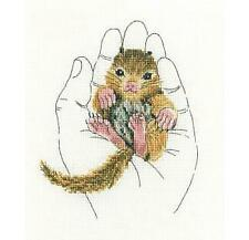 RTO Counted Cross Stitch Kit - Warmth in Palms - Baby Squirrel