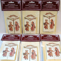 Victorian Fold-Out CHRISTMAS CARD s (LOT OF 6) Mint/Factory Sealed HTF Shackman