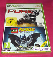 PURE + LEGO BATMAN THE VIDEOGAME XBOX 360 BUNDLE COPY NEUF FRANCAIS