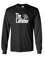 Men The CatFather T-Shirt Cat Dad Pet Lover Gift Ideas Fathers Day Daddy Shirt