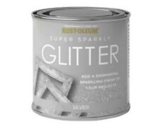 Rust-Oleum Super Sparkly Sparkling Silver Glitter Brush Paint 250ml Wood Metal