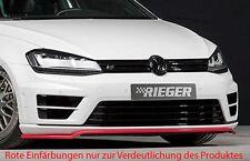 Rieger front spoiler labbro per VW Golf 7 R/R-Line