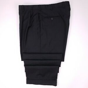 Brooks Brothers Madison Pants 38x30 Gray Charcoal Loro Piana Wool Mens Size Pant