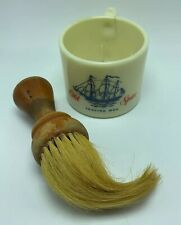 Vintage Old Spice Shaving Cream Cup Mug With Wooden Brush