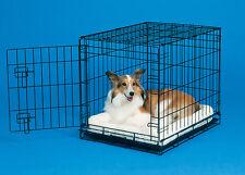 "Quiet Time Pet Bed Cat Mat or Dog Crate Pad 22"" Faux Fleece Beige Machine Wash"