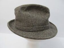 Vtg 100% Wool Fedora Mens Small USA Adam New York Brown 6 3/4-6 7/8 Excellent