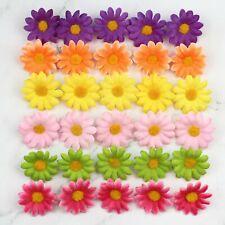 100-200pcs Lot artificial flower head color daisy wholesale party home decor