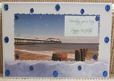 Luxury Handmade Personalised Large A4 BIRTHDAY CARD Seaside Pier The Tide Is In