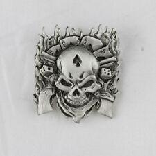 Biker Chopper Poker Skull Guns TESCHIO PISTOLE PIN SPILLA SPILLA NUOVO