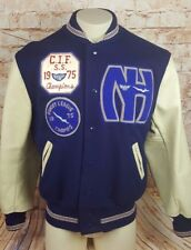 A929 Newport Harbor High School 1975 Letterman Vintage Jacket Swim WaterPolo CIF