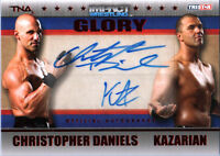 TNA Chris Daniels & Kazarian 2013 GLORY RED Dual Autograph Card SN 24 of 50