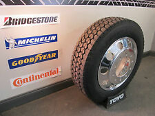 6- NEW 255/70R22.5 TRUCK TIRES & WHEELS 255-70-22.5 DUALLY FREE SHIPPING!! 22.5