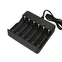 Li-ion Smart Charger 2 4 6 Slot For 16340/18650/14500/26650 Battery Recharger