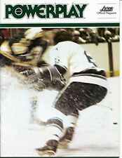 1977-78 Powerplay Houston Aeros Hockey Magazine WHA Program Quebec Nordiques