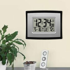 TS-H129Y Digital LCD Home Office Decor Wall Clock Indoor Temperature Best ZE