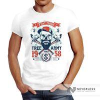 fe9e2b2e43e0cd Herren T-Shirt Hipster modern Lumberjack Stay fresh Skull Totenkopf  Neverless®