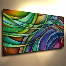 Abstract Art Modern CONTEMPORARY Mix.Lang Painting Mounted Giclee Canvas Print