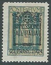 1924 FIUME ANNESSIONE ALL'ITALIA 50 CENT MH * - F6.4