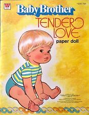 Baby Brother Tender Love Paper Doll Book, Uncut 1977, Vintage Mattel Doll