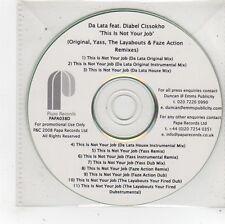 (FS975) Da Lata ft Diabel Cissokho, This Is Not Your Job - 2008 DJ CD