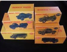 Dinky 621,623,643,670,673,674 Army Empty Repro Boxes