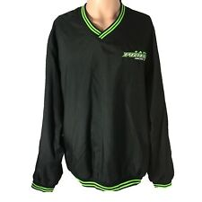 Arcticwear Arctic Cat Pride Pullover Windbreaker Jacket L Black Neon Snowmobile
