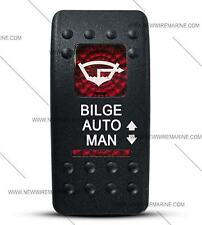 Labeled Contura II Rocker Switch COVER ONLY, Bilge Auto/Man (2 Red Windows)