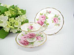 "Vintage ""Royal Albert"" Trio Set, American Beauty Roses Tea,"