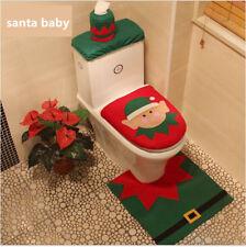 Christmas decorations Xmas Santa Baby toilet Mat seat cover 3 pcs sets gifts