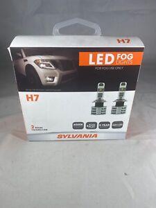 SYLVANIA H7 LED Fog Lights Bright White LED Light Output Headlight, 2 Bulbs