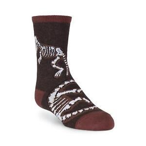 K.Bell Boy's Dino Bones Crew Socks Fits Shoe Size 10-13 Dino Fan Free Shipping