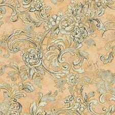 Vliestapete Beige Gelb Peach Floral Rosen Ornamente Designtapete Wolfgang Joop