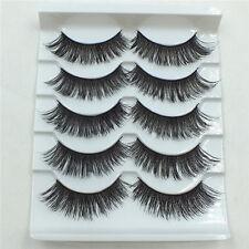 5 Pairs Black Thick Cross False Eyelashes Handmade Natural Long Eye Lash New-702