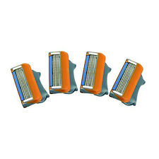 4 *Generic Refill Shaving Replacement Blades Cartridge fr Gillette Fusion Razor
