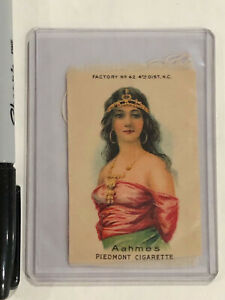PIEDMONT SILK CIGARETTE TOBACCO CARD EGYPTIAN WOMAN AAHMES