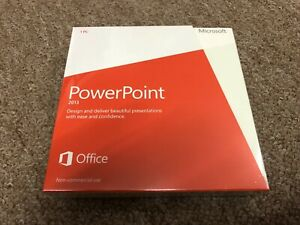 BRAND NEW MICROSOFT POWERPOINT 2013 NON-COMMERCIAL DVD GENUINE RETAIL DISC