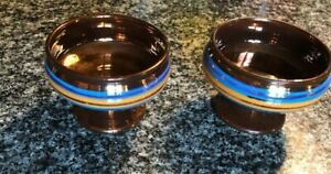 RARE PAIR OF MATCHING COPPER LUSTRE MASTER SALTS! EARLY 19TH CENTURY