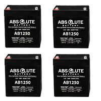 4 PACK NEW AB1250 12V 5AH SLA Replacement Battery Sunl E-907A