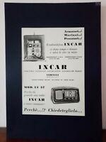 Pubblicità originale INCAR rifilatura da rivista in passepartout