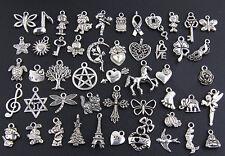 Wholesale 100pcs Tibetan Silver Mix Pendants Charms Style Q1