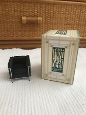 Vintage Take A Seat By Raine Miniature Dollhouse Leather/Chrome Chair C.1928 Nib