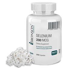 Bronson Selenium 200 Mcg 250 Capsules , New