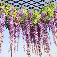 Wedding Bride Decor Hanging Rattan 12pcs/lot Artificial Silk Wisteria Flower