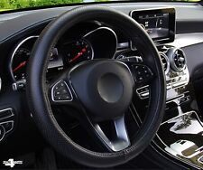 For Toyota Black Pu Perforated Leather Steering Wheel Cover Protector Glove Uk