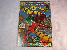 SPIDER-MAN AND THE WEREWOLF  NO. 12  AUG MARVEL COMIC VINTAGE    T*